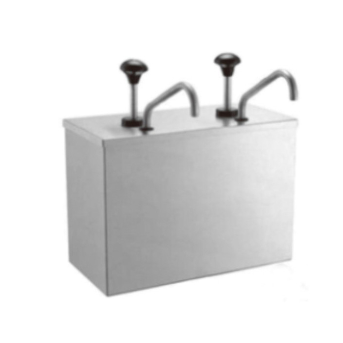 Stainless steel condiment dispenser