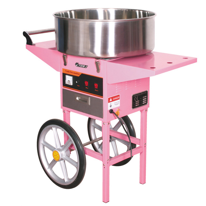 Candy floss machine  with cart     CE