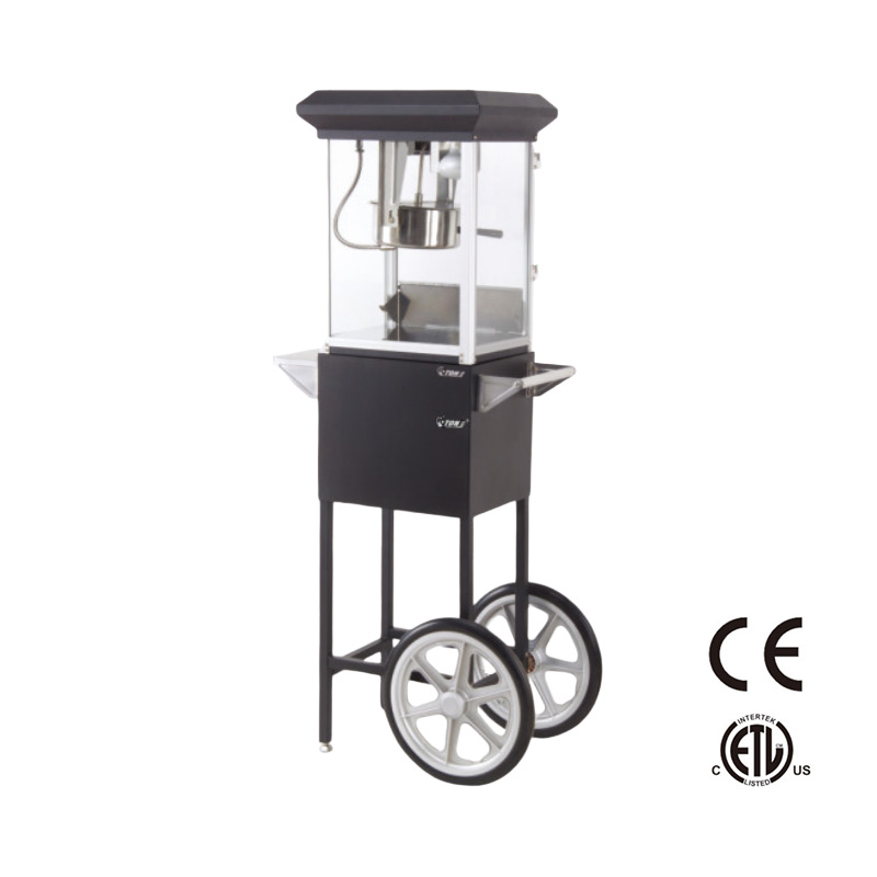 Small popcorn machine cart CE